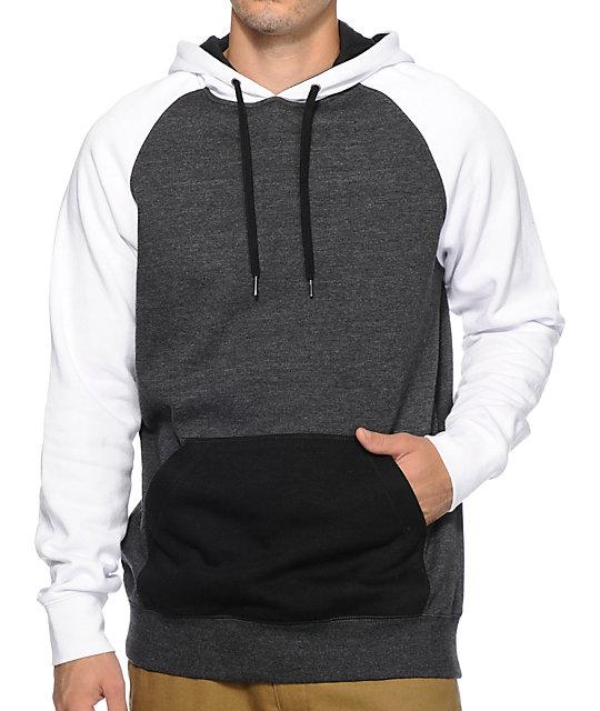 Black and white hoodies