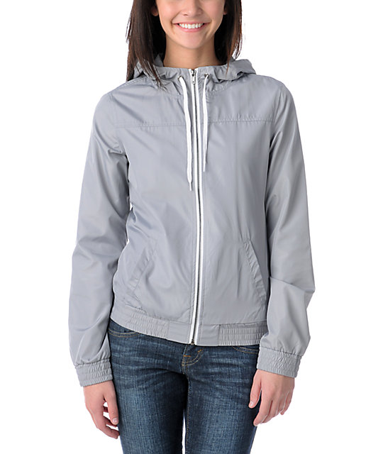 Zine Grey Windbreaker Jacket at Zumiez : PDP