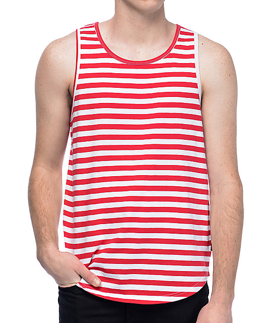 Zine Hanger Red & White Stripe Tank Top