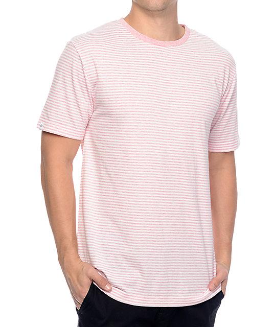 Zine Hart Light Pink & White Stripe T-Shirt | Zumiez