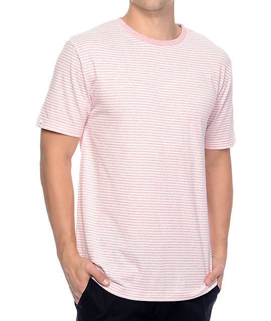 Zine Hart Light Pink White Stripe T Shirt At Zumiez Pdp