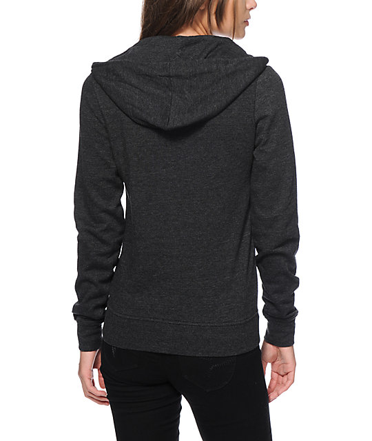 Zine Heather Black Hoodie