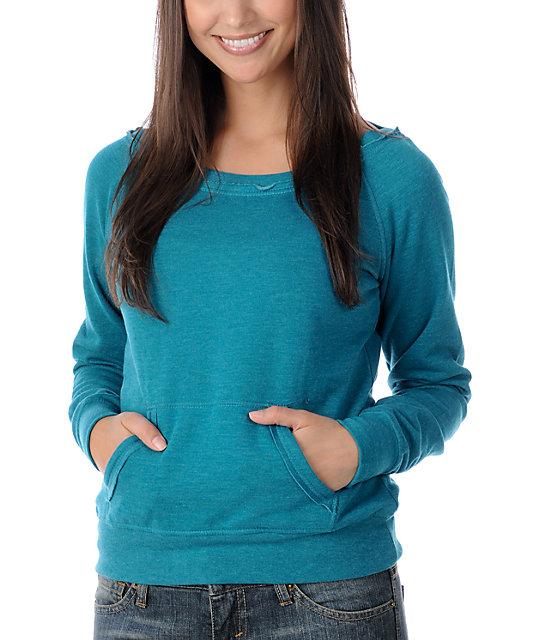 Zine Heather Everglade Wide Neck Sweatshirt