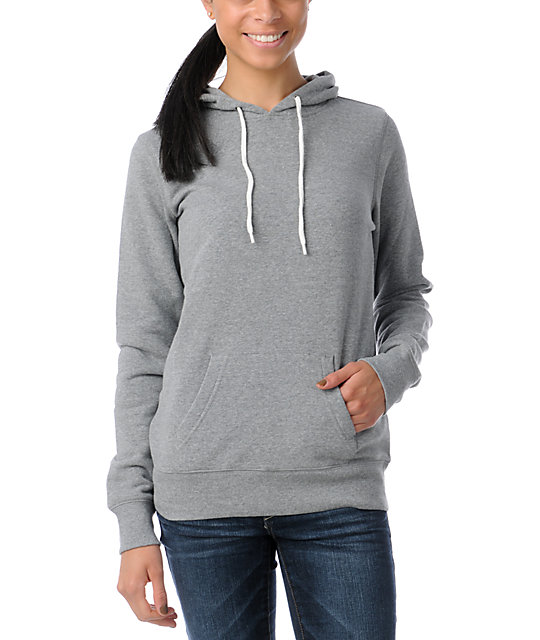 Zine Heather Grey Pullover Hoodie