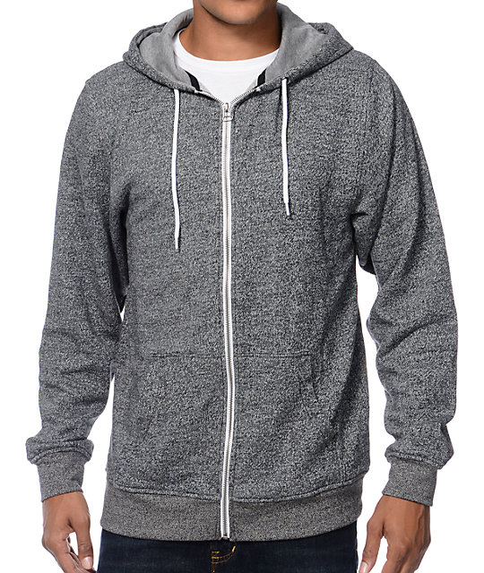 Hooligan Ash Zip Up Hoodie