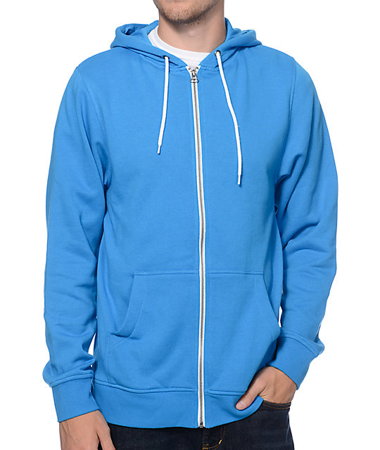 Zine Hooligan Coast Blue Zip Up Hoodie at Zumiez : PDP