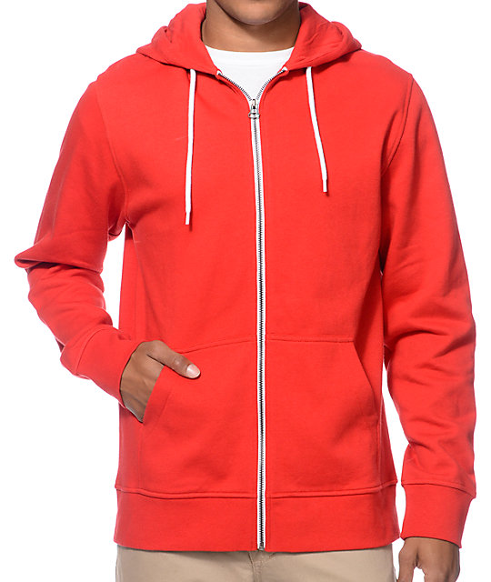Zine Hooligan True Red Zip Up Hoodie at Zumiez : PDP