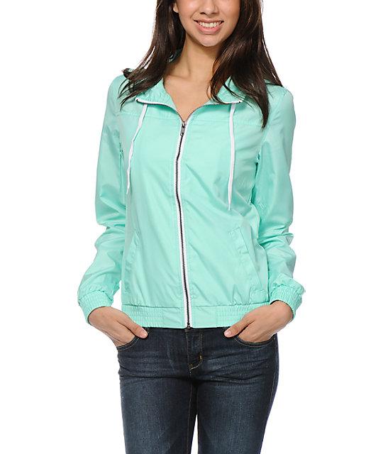 Zine Ice Green Windbreaker Jacket