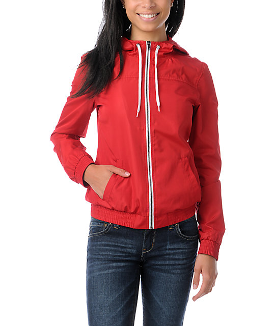 Zine Jester Red Windbreaker Jacket at Zumiez : PDP