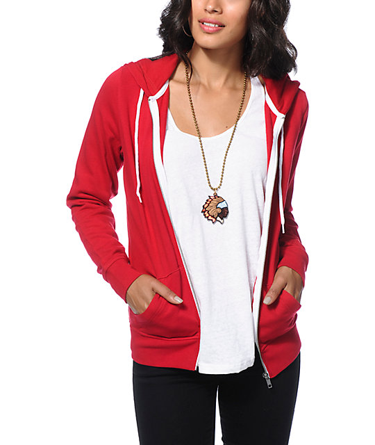 Zine Jester Red Zip Up Hoodie at Zumiez : PDP