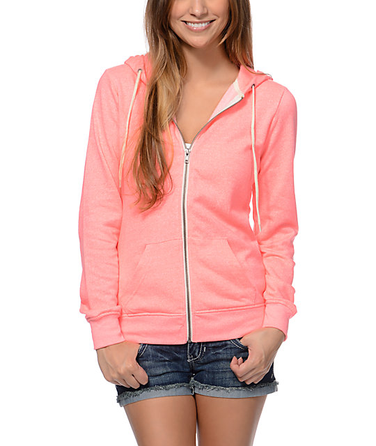 Zine Knockout Pink Speckle Zip Up Hoodie at Zumiez : PDP