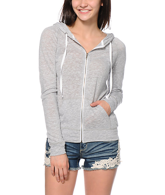 Light Grey Zip Up Hoodie