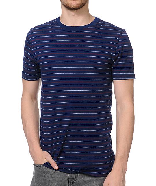 Zine Lucid Navy Stripe Woven T-Shirt