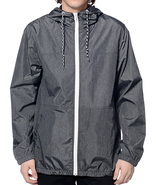 Zine Marathon Heather Charcoal Windbreaker Jacket at Zumiez : PDP