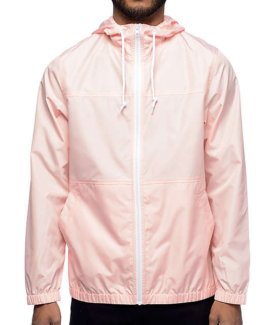 Zine Marathon Pink Windbreaker Jacket at Zumiez : PDP
