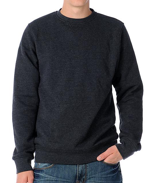 Zine Mens Cruiser Charcoal Crew Sweatshirt