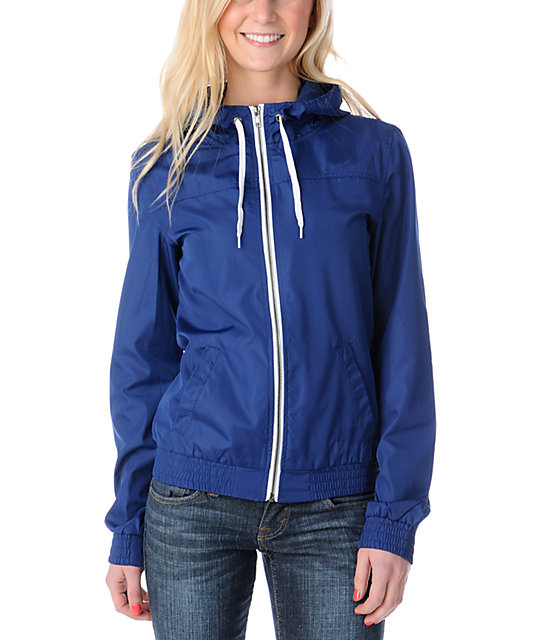 Zine Navy Windbreaker Jacket at Zumiez : PDP