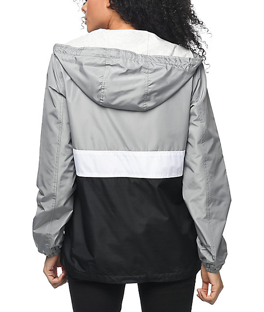 Zine Neala Grey, White & Black Pullover Windbreaker