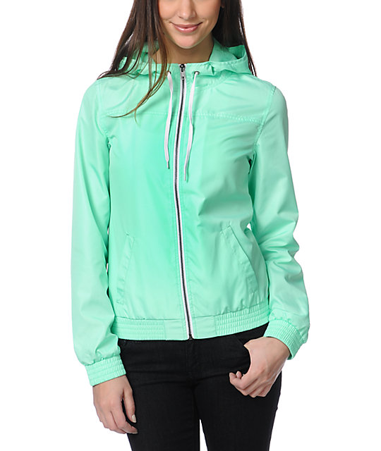 Zine Neon Mint Windbreaker Jacket
