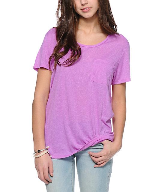 zine neon purple boyfriend fit pocket t shirt zumiez