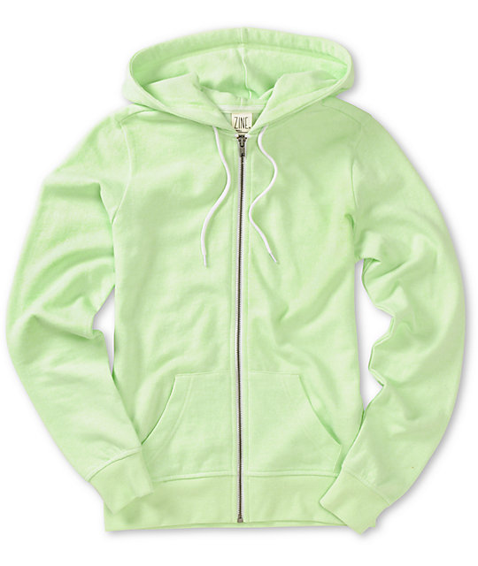 Zine Patina Green Zip Up Hoodie