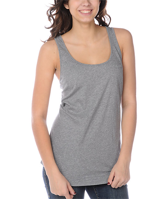 Zine Pocket Heather Grey Tank Top