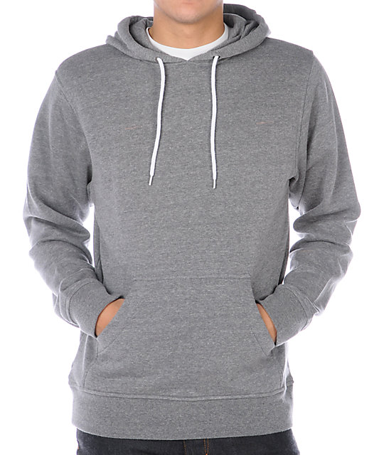Zine Pulley Heather Grey Pullover Hoodie