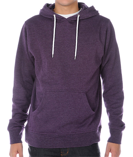 Zine Pulley Heather Purple Hoodie