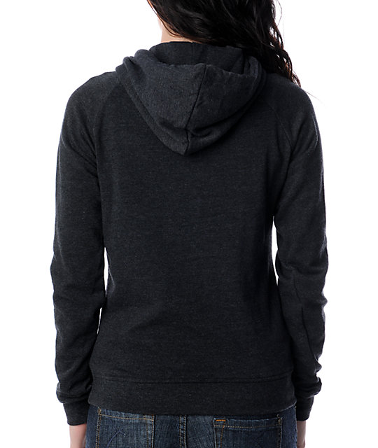Zine Pullover Heather Black Hoodie