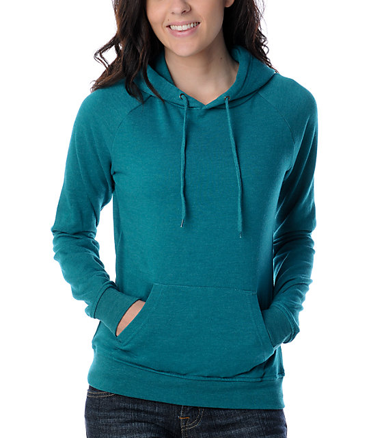 Zine Pullover Heather Everglade Hoodie