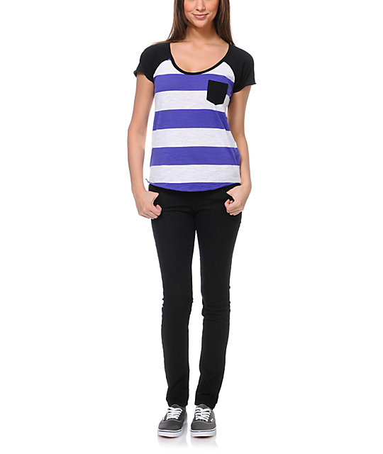 Zine Purple & White Stripe T-Shirt