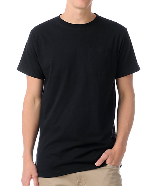 Zine Racket Black Pocket T-Shirt