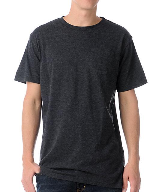Zine Racket Heather Black Pocket T-Shirt