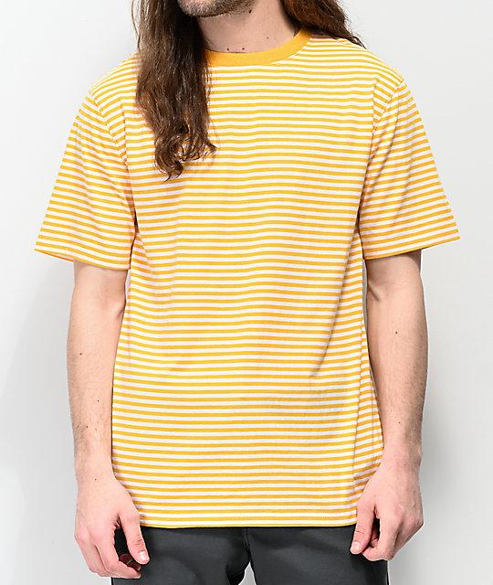 Y Ranked Camiseta Amarilla Blanca De Zine Rayas FT1lc3uKJ5