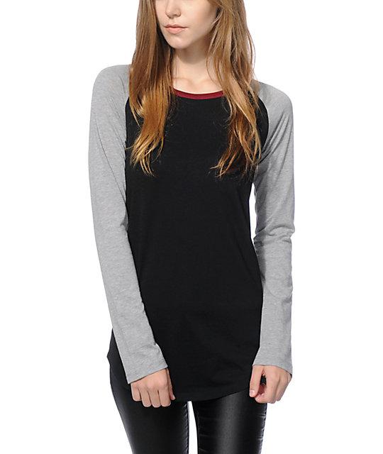 Zine Rayna Black Grey Long Sleeve Shirt