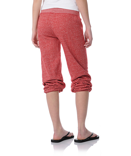 Zine Red Speckle Sweatpants