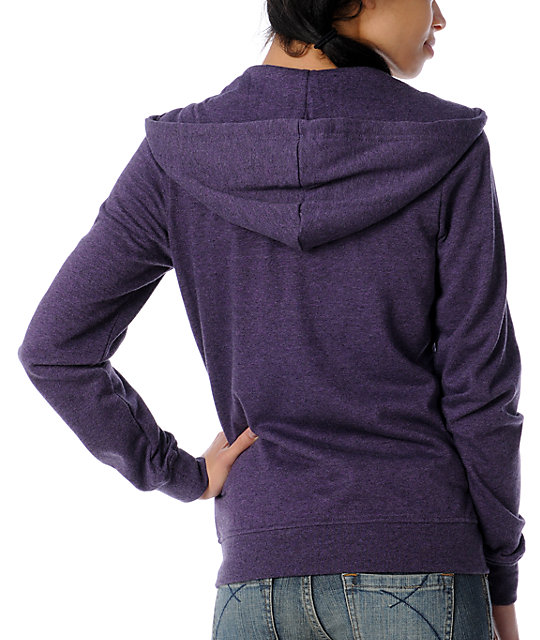 Zine Royal Lilac Zip Up Hoodie