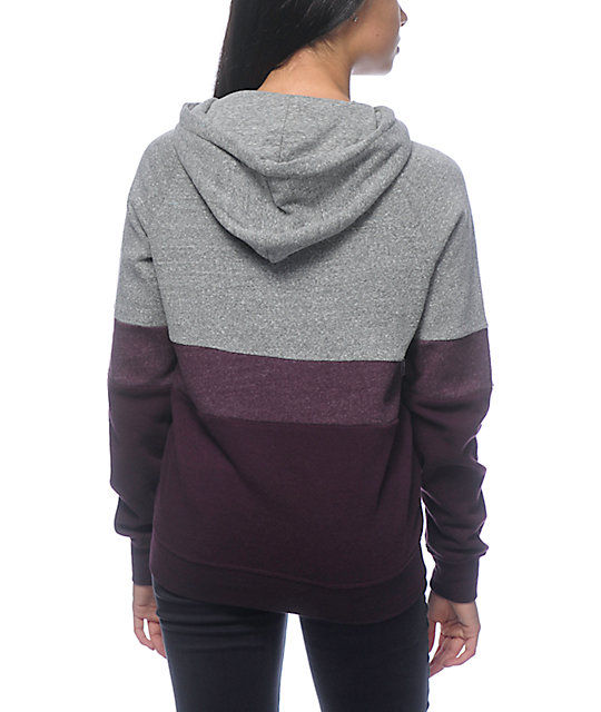 Zine Sheena Tri Block Purple Hoodie