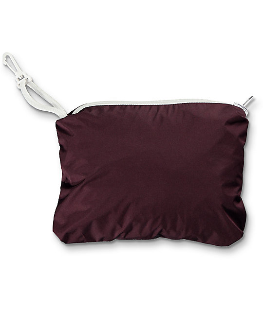 Zine Shiloh Burgundy & Black Stripe Packable Windbreaker | Zumiez