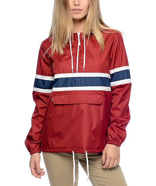 Zine Shiloh Red Pullover Packable Windbreaker | Zumiez