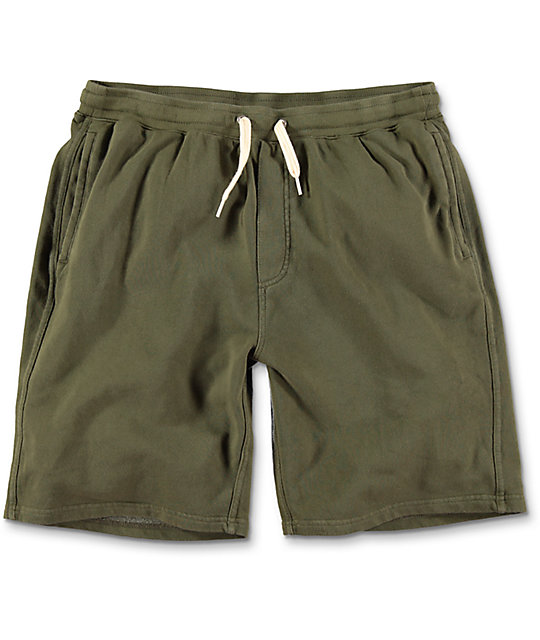 Silas Olive Green Sweat Shorts
