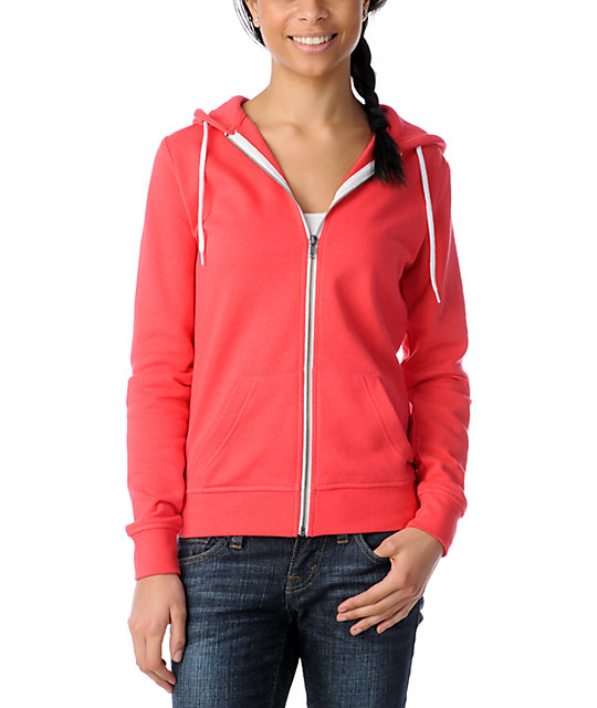 Zine Solid Teaberry Pink Zip Up Hoodie at Zumiez : PDP