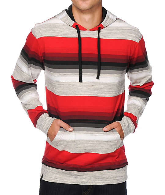 Zine Space Case Stripe Hooded Shirt