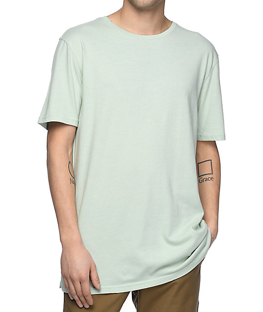Zine Split Sage Green T-Shirt