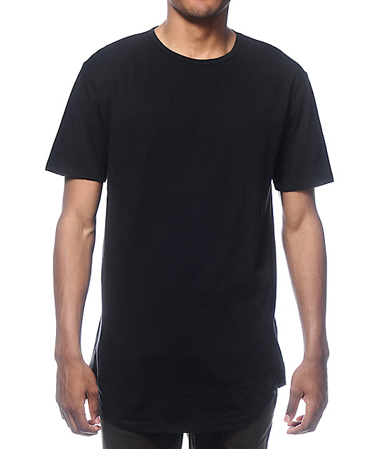 Zine Tall Scoop Black Long T-Shirt | Zumiez