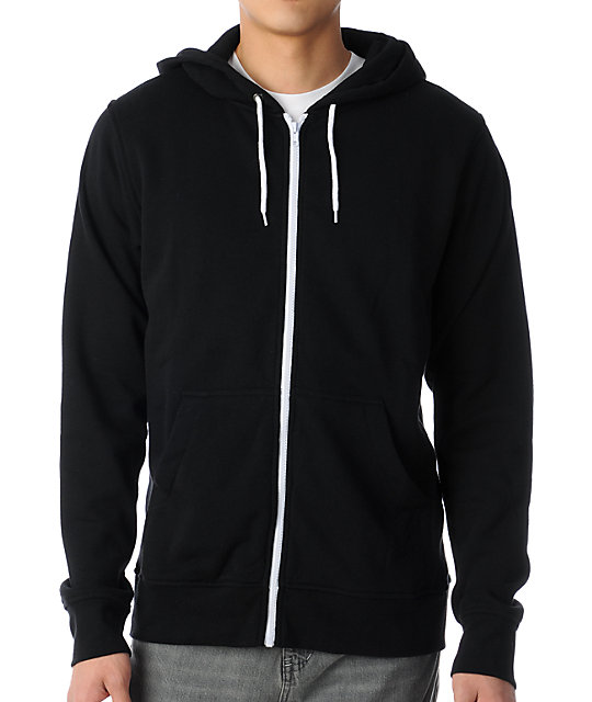 Zine Template Black Solid Hoodie at Zumiez : PDP