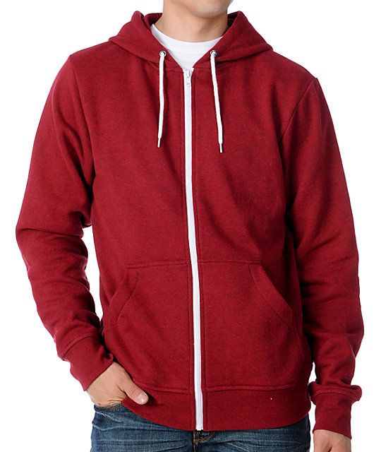 Zine Template Blood Red Zip Up Hoodie at Zumiez : PDP