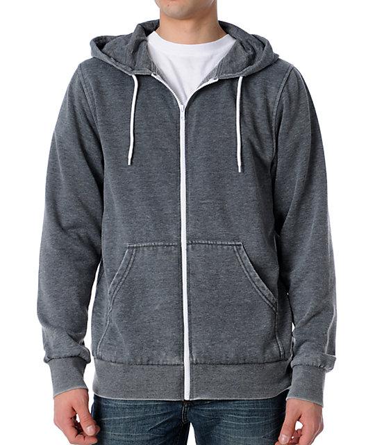 Zine Template Burnout Grey Hoodie