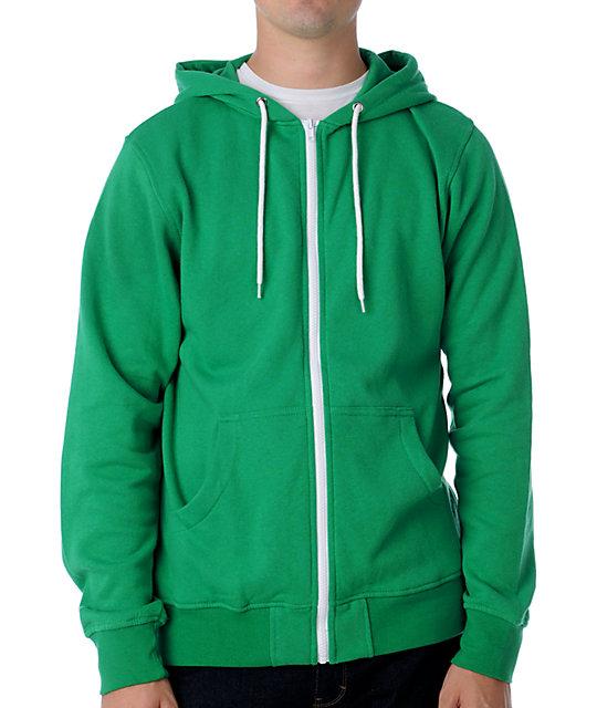Zine Template Green Zip Up Hoodie
