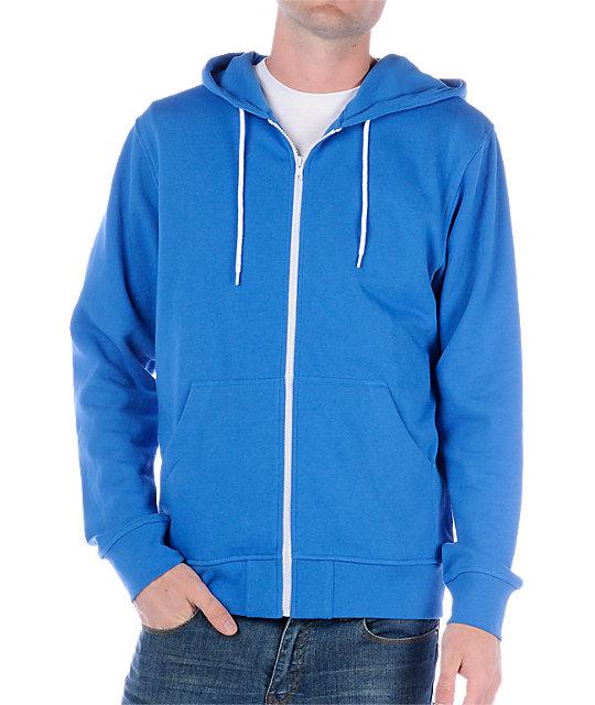 Zine Template Solid Blue Hoodie